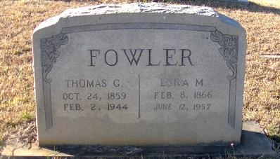 Thomas Gillman Fowler Lura Mabry Fowler