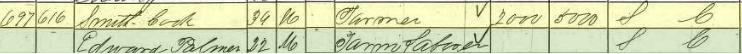 smith cook b. 1820 1860 census